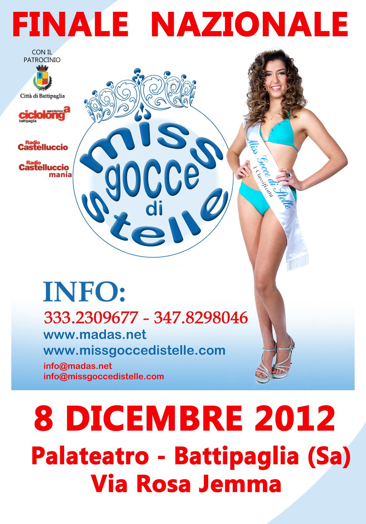Miss Gocce di Stelle MANIFESTO  2012 B.