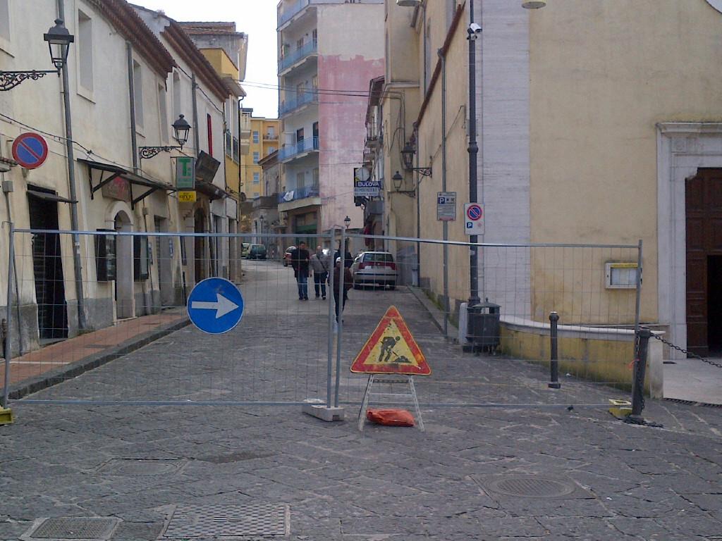 Sala Consilina - Via Roma lavori