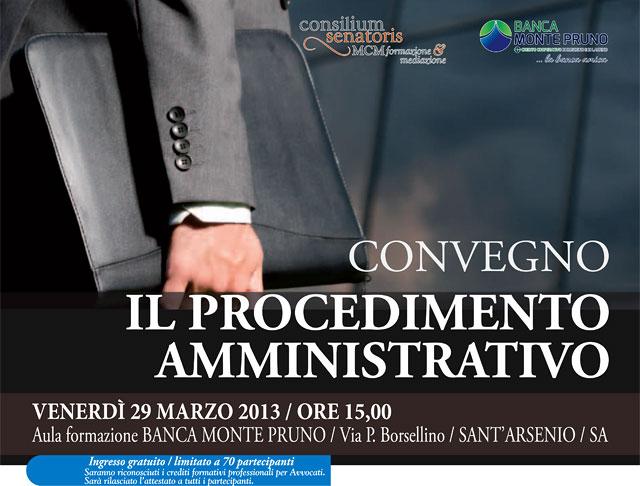 Convegno Il Procedimento Amministrativo