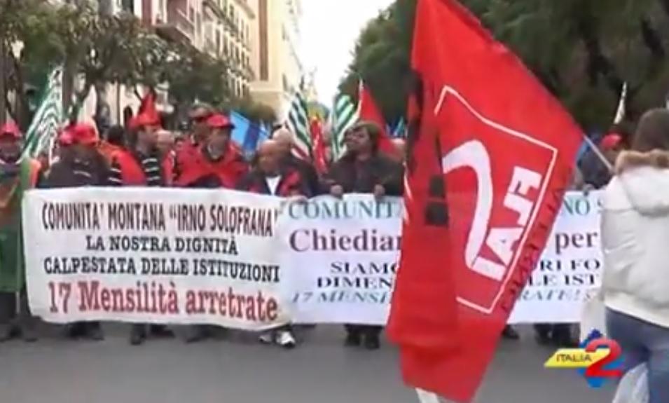 Salerno  Sciopero Di Sindacati E Lavoratori Contro La Legge Di Stabilit U00e0