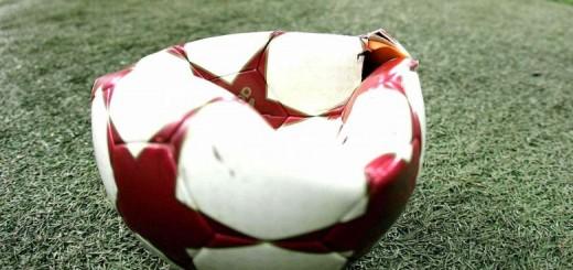 calcio malato pallone sgonfio