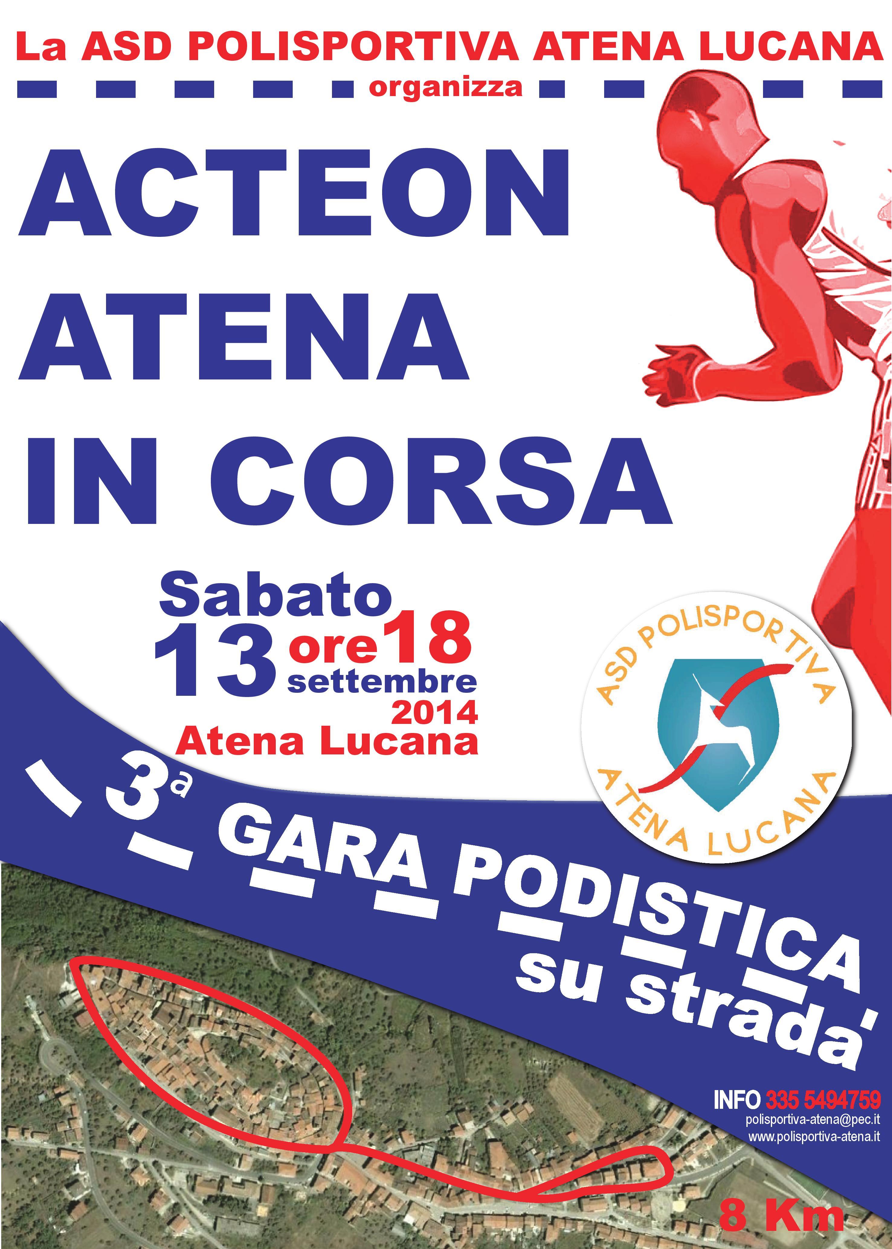 «Acteon - Atena in corsa», III edizione. Locandina