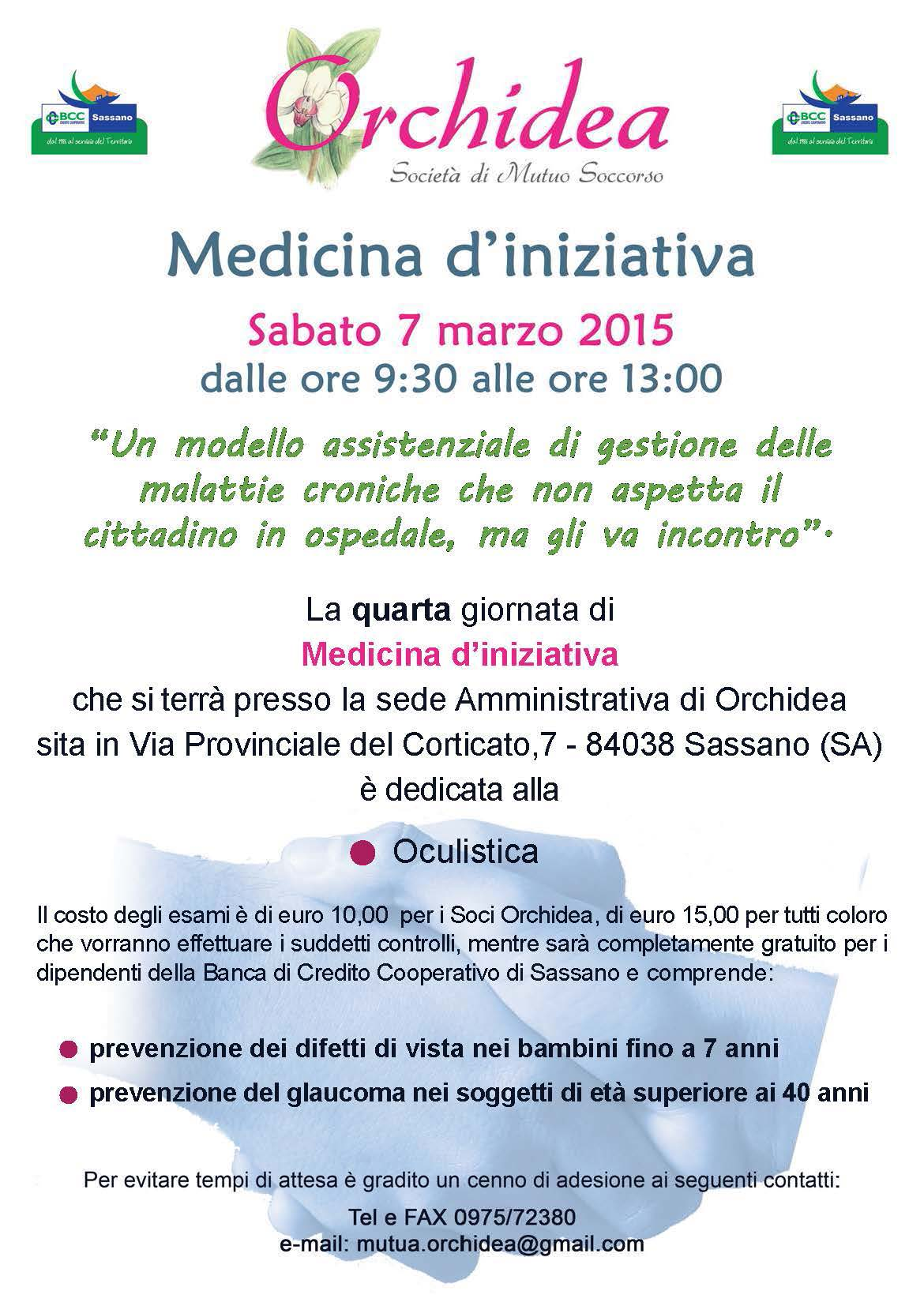 A sassano 4 giornata del progetto medicina d iniziativa for Costo orchidea