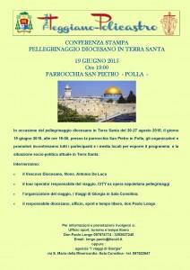 Pellegrinaggio terra Santa CONFERENZA STAMPA