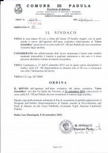 ordinanza sindaco padula