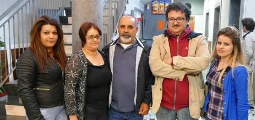 Andrea D'Ambrosio con familiari Giovanna Curcio