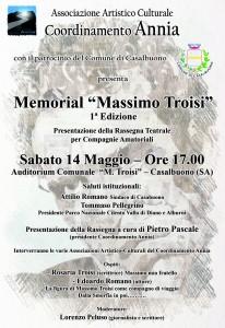 Locandina 1° Memorial Massimo Troisi 14 maggio 2016
