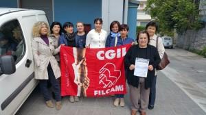 foto cgil dipendenti mensa sciopero