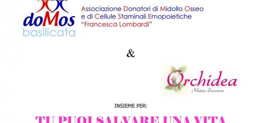INVITO EVENTO PRESENTAZIONE  DOMOS - DONATORI TRAPIANTO MIDOLLO OSSEO ORCHIDEA