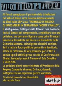 PETIZIONE NO AL PETROLIO VALLO DI DIANO ATTIVISTI M5S