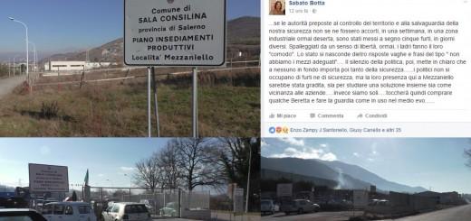 COLLAGE FURTI LOCALITA' MEZZANIELLO SALA CONSILINA