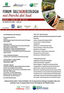 FORUM AGRO-ECOLOGIA PARCHI PADULA