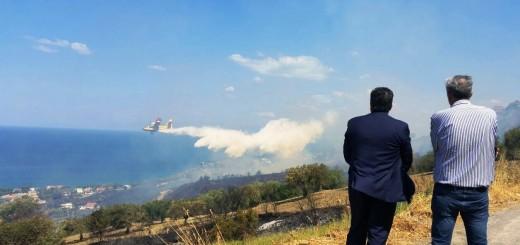 Operazioni spegnimento incendio Agropoli Coppola-La Porta