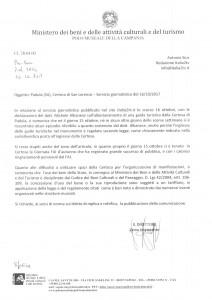 Comunicazione del Polo museale della Campania- articolo sulla Certosa di Padula