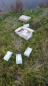 pacchi alimentari abbandonati tanagro (2)