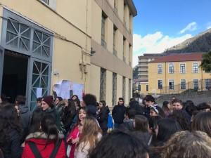sciopero liceo cicerone rivolta