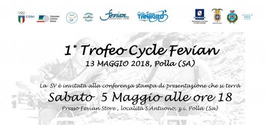 «Trofeo Cycle Fevian» (Polla, 13 maggio 2018). Invito al la conferenza stampa di presentazione dell'evento