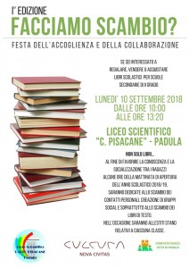 locandina liceo scientifico pisacane scambio libri