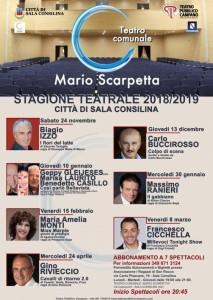 CARTELLONE TEATRO SCARPETTA SALA CONSILINA 2018-19