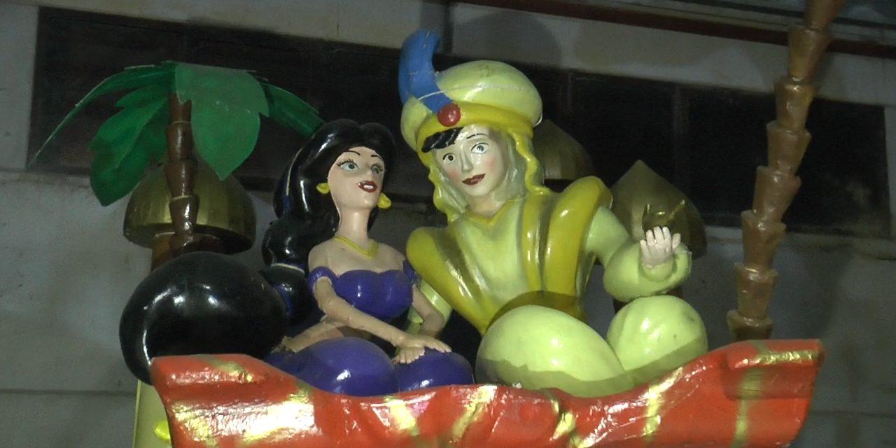 A Buonabitacolo è già Carnevale. Domenica la sfilata  con i carri a tema Aladdin. Si replica il 23 e il 25 febbraio.